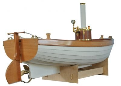 model steam boat kits 'HENRY' is a 1/6th scale model of a typical clinker built, steam powered working dinghy